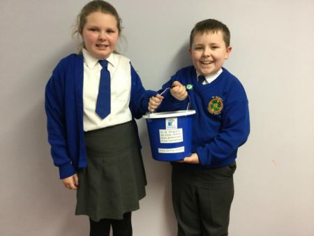 Our Eco Committee set up a charity collection box - throughout the year we will donate money to charities and others less fortunate than ourselves